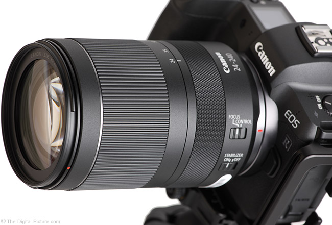 Canon RF 24-240mm F4-6.3 IS USM Lens Angle View