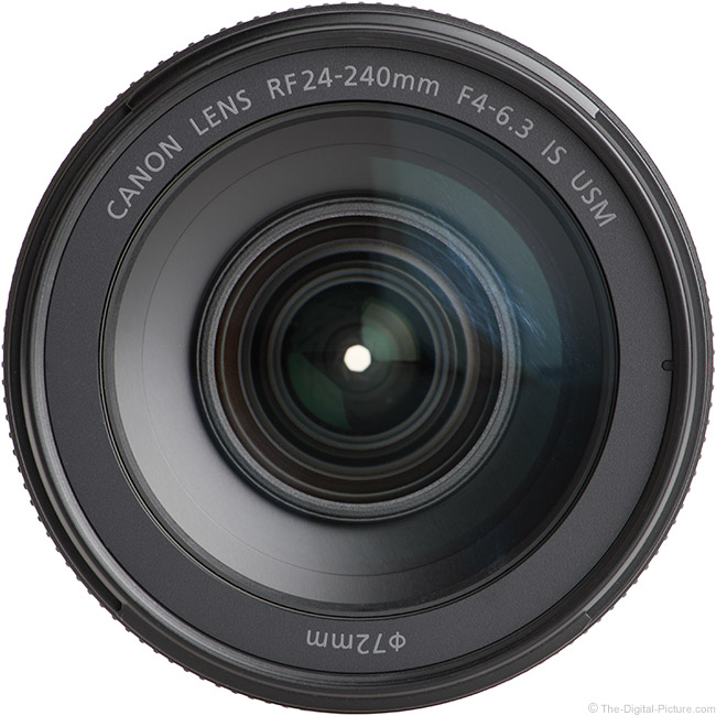 Canon RF 24-240mm F4-6.3 IS USM Lens Front View