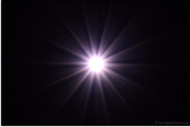 Canon RF 24-240mm F4-6.3 IS USM Lens 240mm Starburst Effect Example