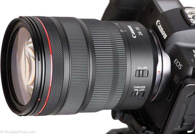 Canon RF 24-70mm F2.8 L IS USM Lens Angle View