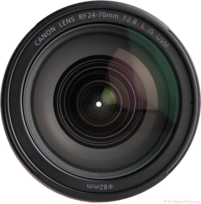 Canon RF 24-70mm F2.8 L IS USM Lens Front View