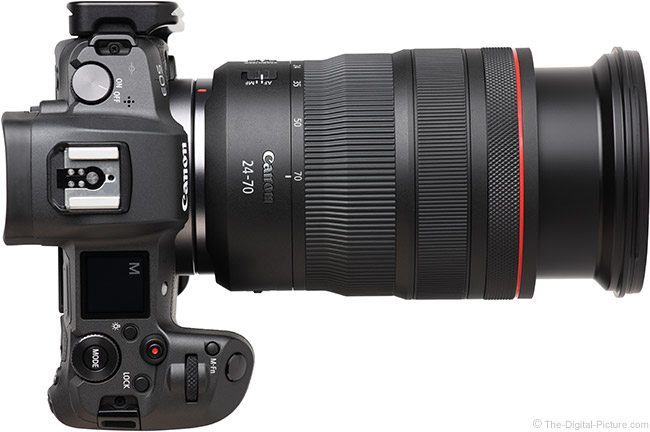 Canon RF 24-70mm F2.8 L IS USM Lens Extended Top View