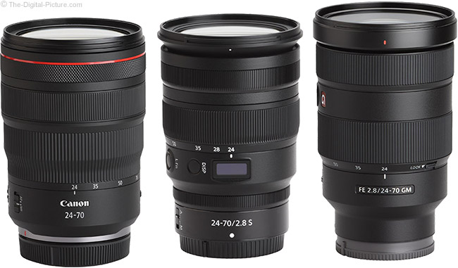 Canon RF 24-70mm F2.8 L IS USM Lens Compared to Similar Lenses