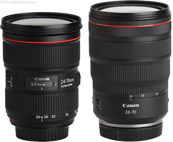Canon RF vs. EF f/2.8L Lens Comparison