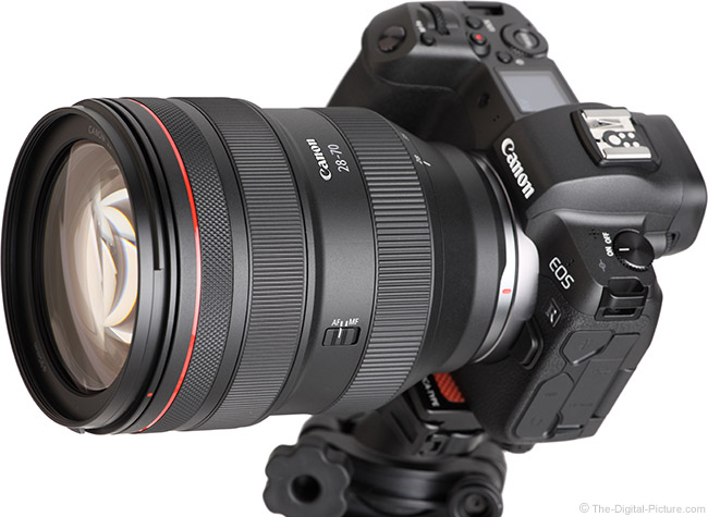 Canon RF 28-70mm F2 L USM Lens Angle View