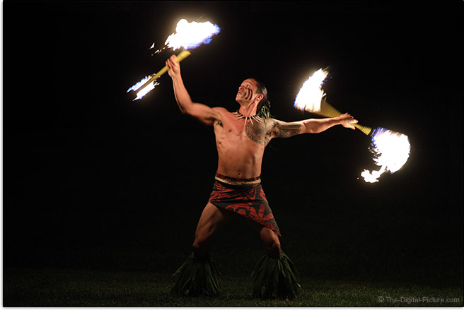 Canon RF 28-70mm F2 L USM Lens Hawaiian Fire Dancer Sample Picture