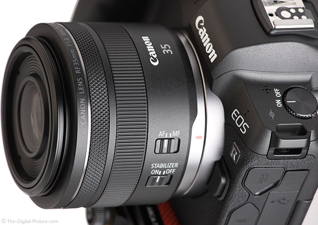Canon RF 35mm f/1.8mm f/1.8 IS STM Macro Lens Angle View