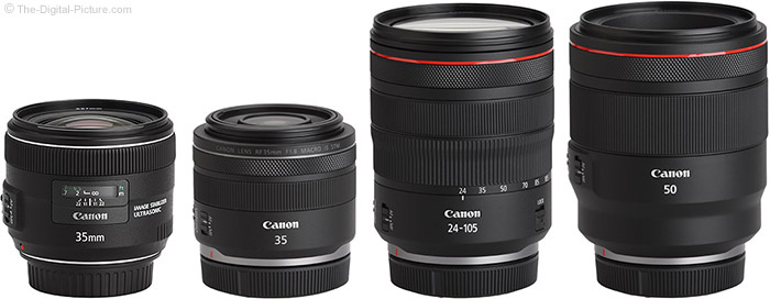 Canon RF 35mm f/1.8mm f/1.8 IS STM Macro Lens Compared to Similar Lenses