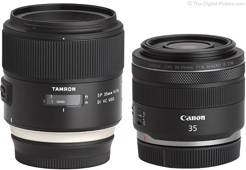 Canon RF 35mm f/1.8mm f/1.8 IS STM Macro Lens Compared to Tamron 35mm f/1.8 Di VC USD Lens