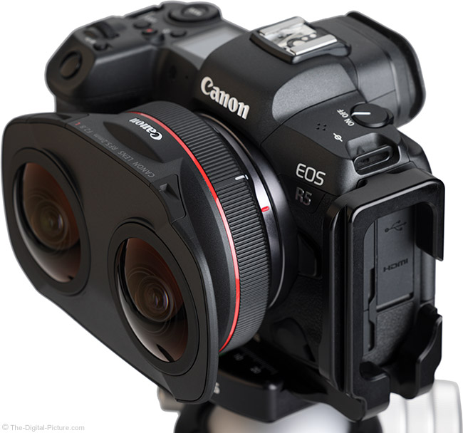 Canon RF 5.2mm F2.8 L Dual Fisheye Lens Angle View