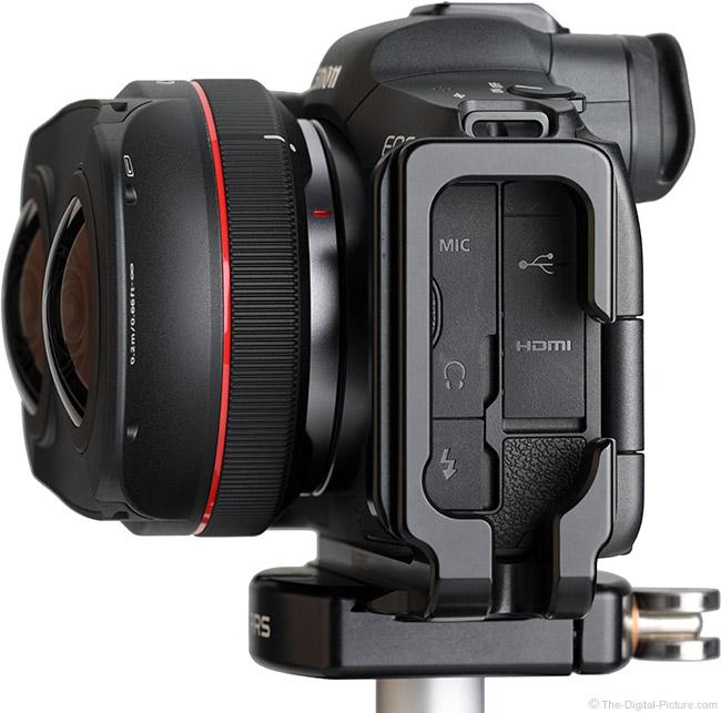 Canon RF 5.2mm F2.8 L Dual Fisheye Lens Side View