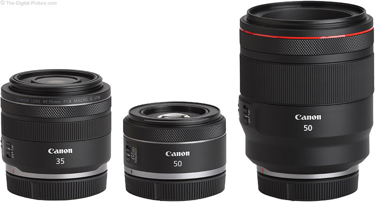 Canon RF 50mm F1.8 STM Lens Compared to Similar Lenses