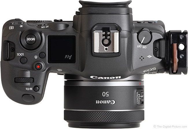 Canon RF 50mm F1.8 STM Lens Top View