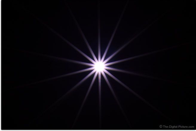 Canon RF 50mm F1.8 STM Lens Sunstar Effect Example