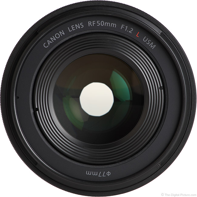Canon RF 50mm F1.2 L USM Lens Front View