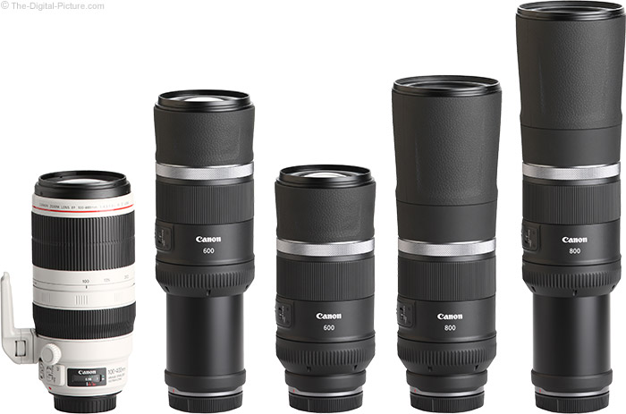 Canon RF 600mm F11 IS STM Lens Compared to Similar Lenses