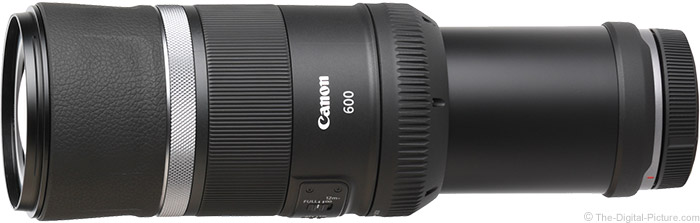 Canon RF 600mm F11 IS STM Lens Angle View
