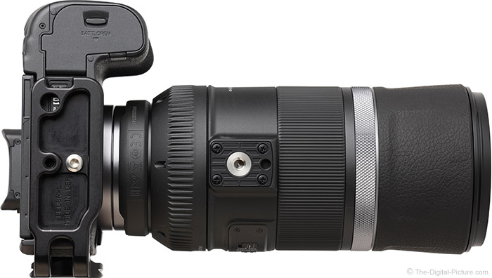 Canon RF 600mm F11 IS STM Lens Bottom View