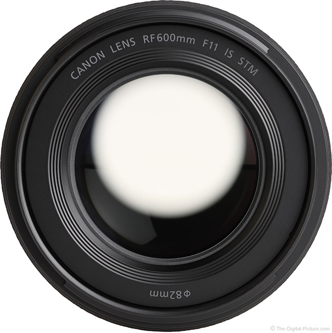 Canon RF 600mm F11 IS STM Lens Front View