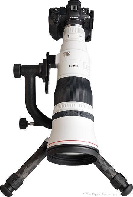 Canon RF 600mm F4 L IS USM Lens Top View