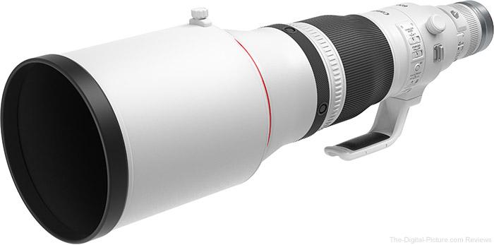 Canon RF 600mm F4 L IS USM Lens Hood Comparison