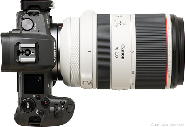 Canon RF 70-200mm F2.8 L IS USM Lens Top View