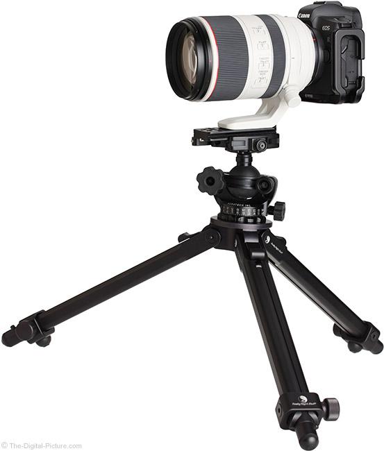 Canon RF 70-200mm F2.8 L IS USM Lens on Tripod