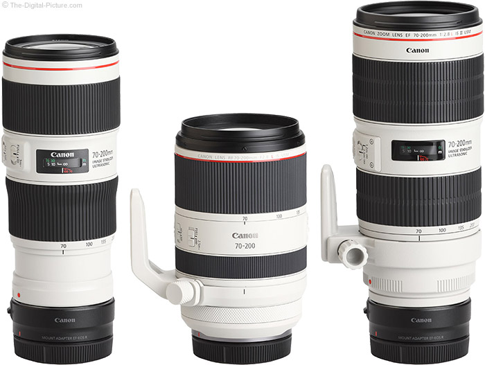 Canon RF 70-200mm F2.8 L IS USM Lens Compared to Similar Lenses