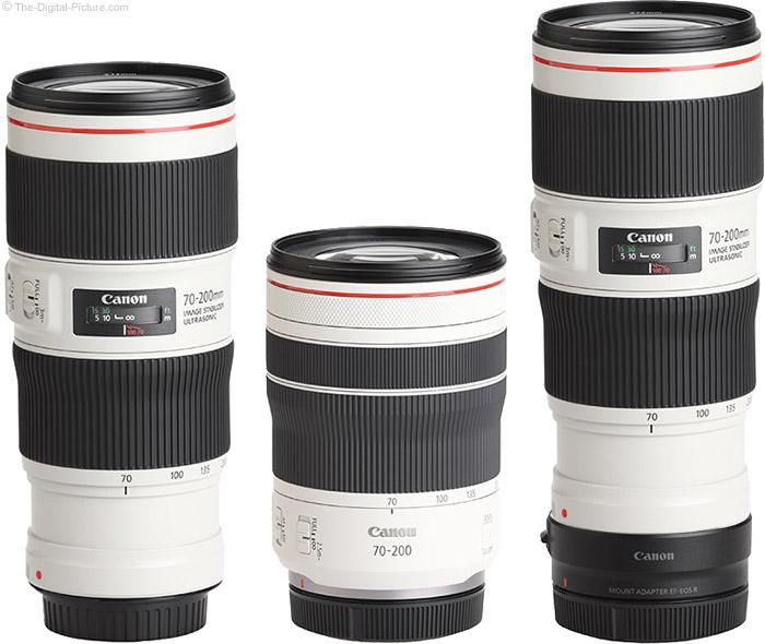 Comparison of Canon RF 70-200mm F4 L and EF 70-200mm f/4L II USM Lenses