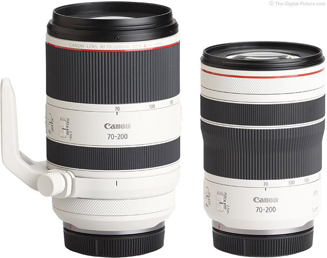 Visual Comparison of Canon RF 70-200mm F4 L IS and RF 70-200mm F2.8 L IS USM Lenses