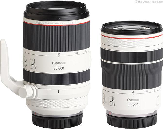 Comparison of Canon RF 70-200mm F4 L IS and RF 70-200mm F2.8 L IS USM Lenses
