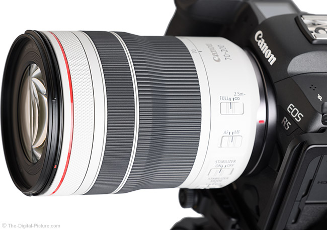 Canon RF 70-200mm F4 L IS USM Lens Angle Close View