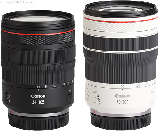 Canon RF 70-200mm F4 L IS USM Lens Compared to the RF 24-105mm F4 L IS USM Lens