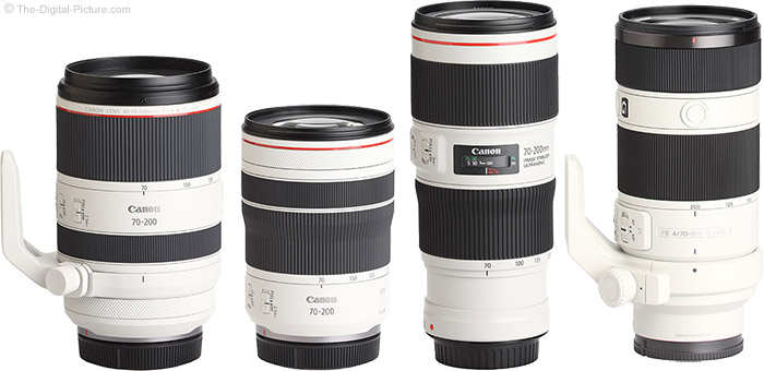 Canon RF 70-200mm F4 L IS USM Lens Compared to Similar Lenses