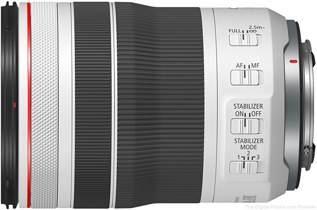 Canon RF 70-200mm F4 L IS USM Lens Switches