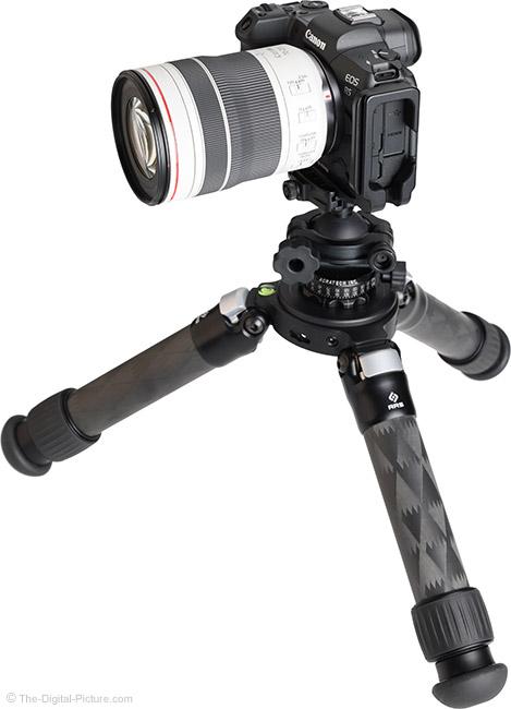 Canon RF 70-200mm F4 L IS USM Lens on Tripod