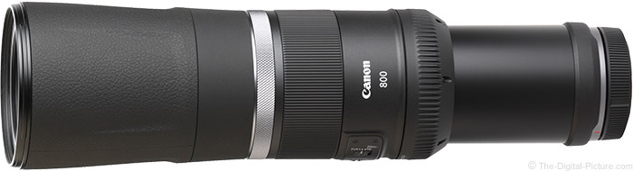 Canon RF 800mm F11 IS STM Lens Angle View