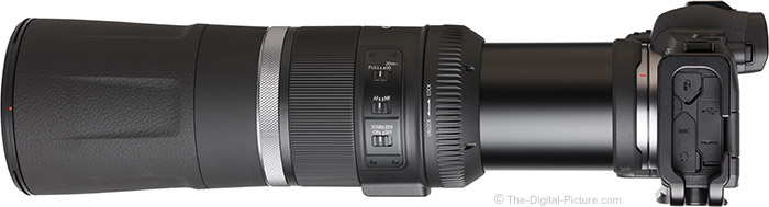 Canon RF 800mm F11 IS STM Lens Side View