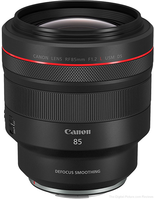 Canon-RF-85mm-F1.2-L-USM-DS-Lens Angle View 2