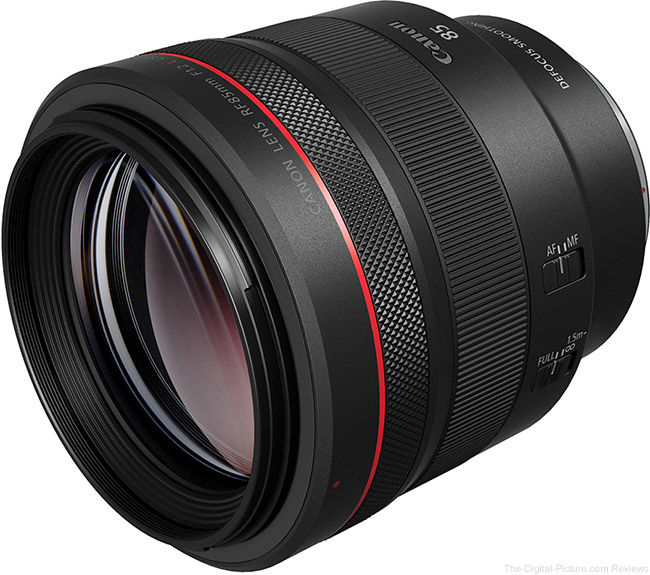 Canon-RF-85mm-F1.2-L-USM-DS-Lens Angle View