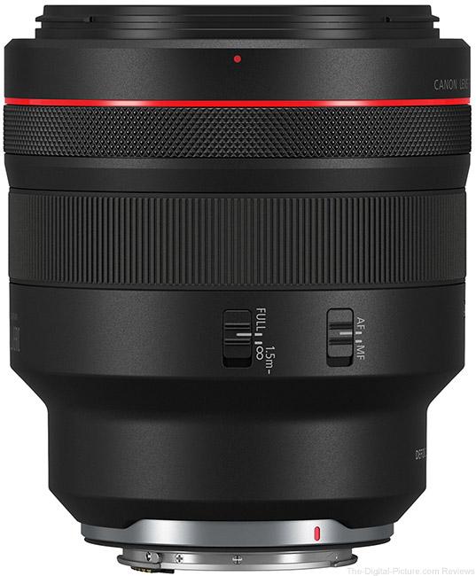 Canon-RF-85mm-F1.2-L-USM-DS-Lens Side View