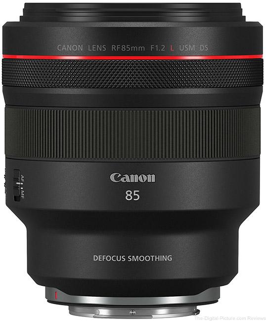 Canon-RF-85mm-F1.2-L-USM-DS-Lens Top View