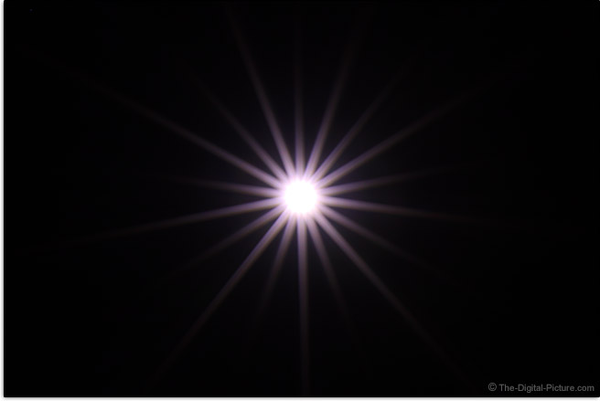Canon RF 85mm F1.2 L USM DS Lens Starburst Effect Example