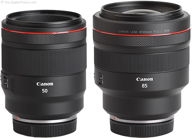 Canon RF 85mm Compared to 50mm F1.2 L USM Lens