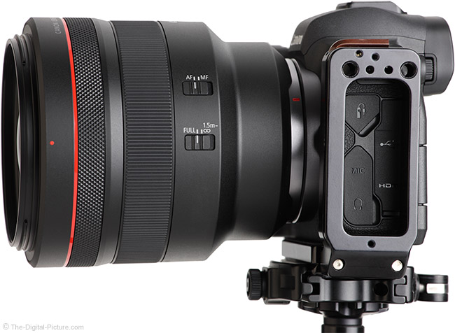 Canon RF 85mm F1.2 L USM Lens Side View
