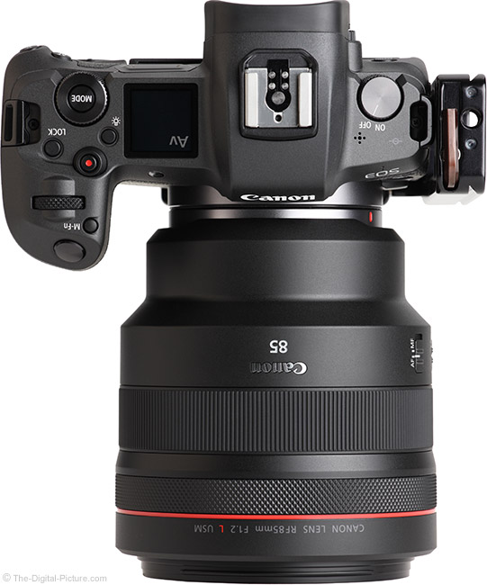 Canon RF 85mm F1.2 L USM Lens Top View