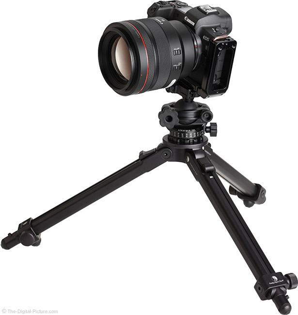 Canon RF 85mm F1.2 L USM Lens on Tripod