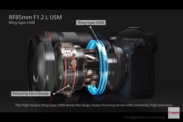 Canon RF 85mm F1.2 L USM Lens AF System