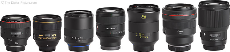 Canon RF 85mm F1.2 L USM Lens Compared to Similar Lenses