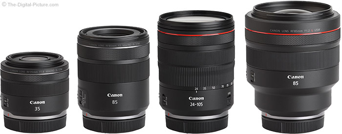 Canon RF 85mm F2 Macro IS STM Lens Compared to Similar Lenses
